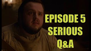 Game of Thrones Season 7 Episode 5 Serious Q&A - Eastwatch