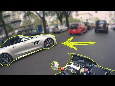 INCONTRI CASUALI: ANDREA PIRILLO A MILANO. Mercedes GTc AMG - QuadVlog (Motovlog) ITA
