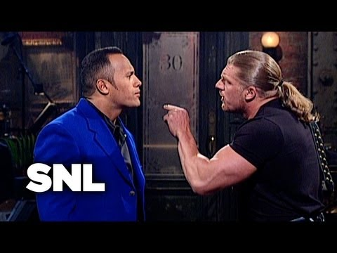 The Rock Monologue WWF Stars Stop By SNL