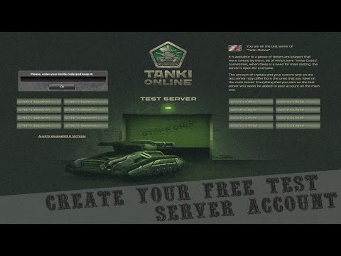 Tanki Online Create your free Test Server account NO PASSWORD