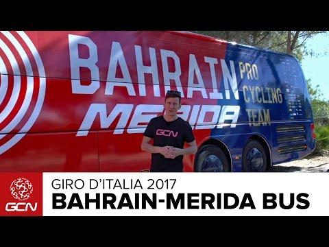 Bahrain Merida Bus Tour Giro d italia 2017