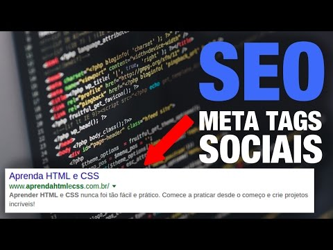 SEO E META TAGS SOCIAIS COM HTML