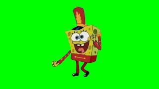[Chroma Key] Dancing SpongeBob (Band Geeks) Green Screen