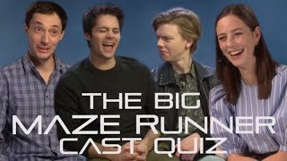 How well do the Maze Runner cast really know each other? The Random Facts Edition