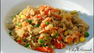 Chicken Fried Rice Recipe Video | Recipes By Chef Ricardo