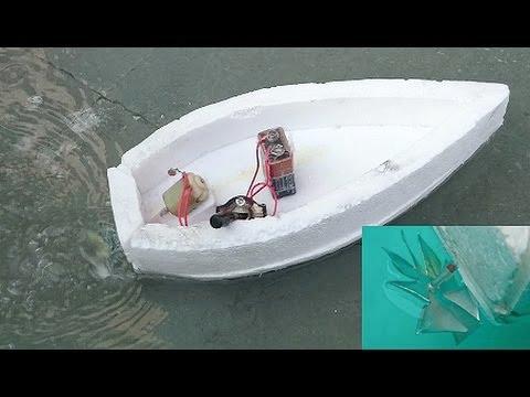 Как сделать лодку из пенопласта с моторчиком