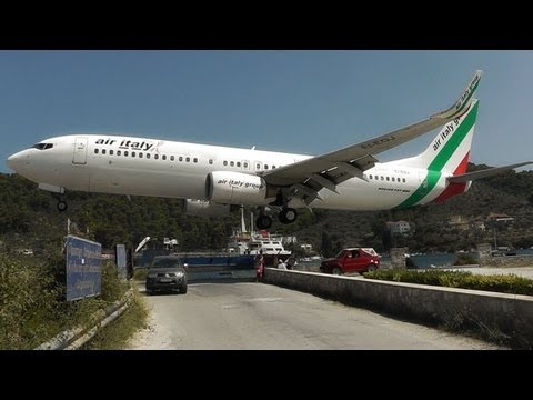 Skiathos the Second St Maarten Low Landings and Jetblasts A Plane Spotting Movie