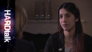 Nadia Murad speaking to BBC HARDtalk in 2016