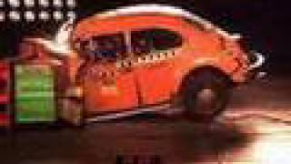 vw beetle and golf (rabbit) crash test