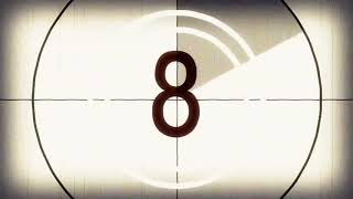 Old Fashioned Film Leader Countdown Free Stock Video Footage Download Clips