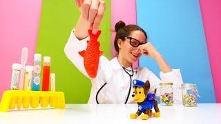 #PawPatrol oyuncakları 🐾.Çizgi film oyuncak Chase koku duygusunu kaybetti. #Doktoroyunu 👩⚕️