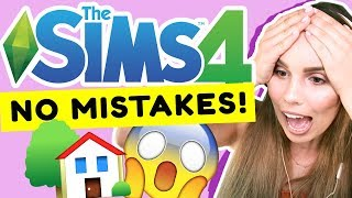 The Sims 4 NO MISTAKES BUILD CHALLENGE!