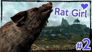 Modded Hardcore Skyrim: Rabecca the Rat Girl [Ep. 2]