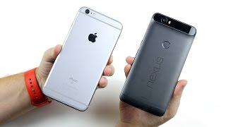 iPhone 6S Plus vs Nexus 6P - битва титанов началась...