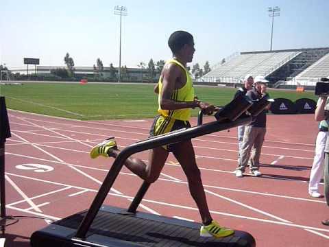 Haile Gebrselassie Treadmill Run