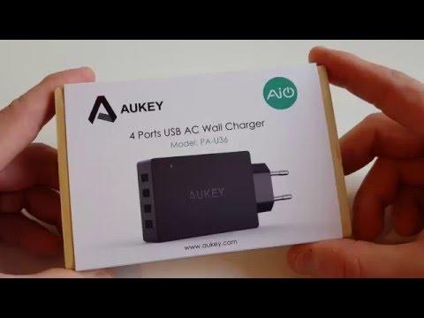 Aukey PA-U36 caricabatterie da muro 4 porte USB - Unboxing in Italiano
