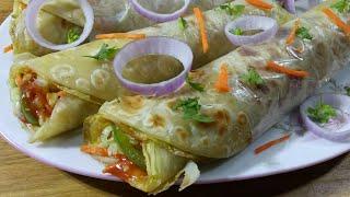 Egg Roll Recipe Indian Street Food/Kids Breakfast Recipe/এগ রোল রেসিপি/রোল রেসিপি/ইন্ডিয়ান ফুড
