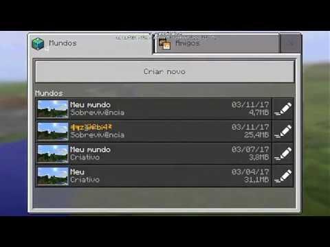 Como gerar Mundos no Minecraft Pocket Edition 1.0.5.0