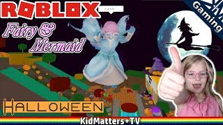 Roblox: HALLOWEEN! Fairies & Mermaids Winx High School.Princess Trick or Treating [KM+Gaming S02E02]