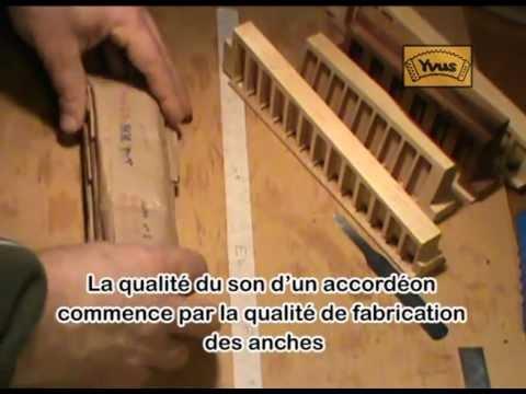 Fabrication accordéon YVUS Secrets d atelier Le montage des anches à la cire