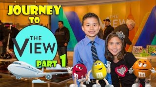 Journey To THE VIEW Part 1 - Visit To M&M's World In New York!