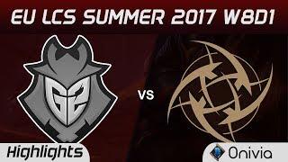 G2 vs NIP Highlights Game 1 EU LCS SUMMER 2017 G2 Esports vs Ninjas in Pyjamas by Onivia