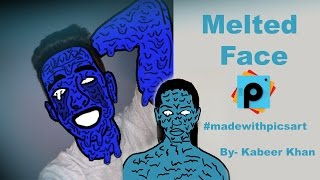PicsArt Tutorial : How to Make a Zombie Melted Face by PicsArt Application (Cartoon Melted Face)