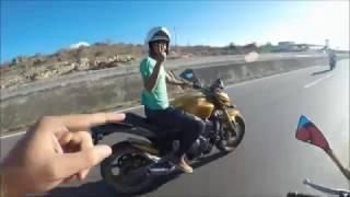 TOMEI UMA FECHADA MONSTRA!! MOTO FALTOU GASOLINA NA BR