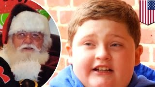 Fat shaming: Santa Claus fat-shames little boy, tells him to lay off the burgers & fries - TomoNews