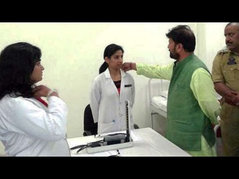 J&K BJP Minister touches the lady doctor's collar, image goes viral