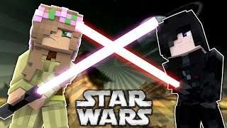 JEDI VS DARTH VADER | LITTLE KELLY VS RAMONA ! Minecraft Star Wars w/LittleCarly (Custom Roleplay)