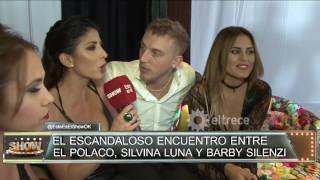 El escandaloso encuentro entre El Polaco, Silvina Luna y Barby Silenzi