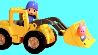 Lego Duplo POCOYO & Peppa Pig Big Loader Mega Construction Blocks Nickelodeon La Excavadora