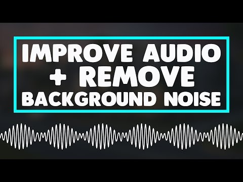 How To Remove Background Noise & Improve Audio Quality Using Audacity!