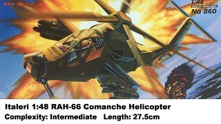 Italeri 1:48 RAH-66 Comanche Stealth Helicopter Kit Review