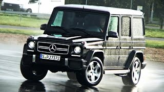 Mercedes G63 AMG going sideways! + spins out