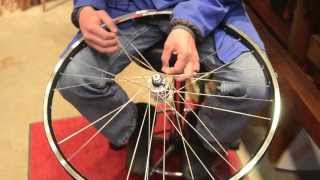 How to build a generator bicycle wheel.