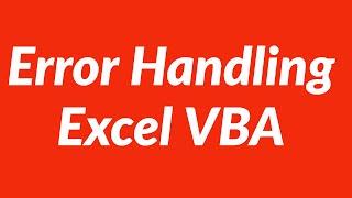 Error Handling Excel VBA