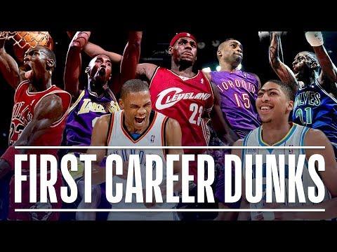 NBA Stars' First Career Dunk (Michael
