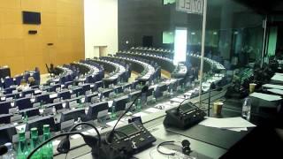European Parliament, a booth