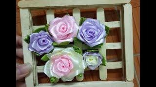 DIY - Hướng dẫn làm hoa hồng bằng ruy băng đơn giản nhất