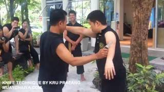 Karambit techniques and Knife technique by Kru Praeng
