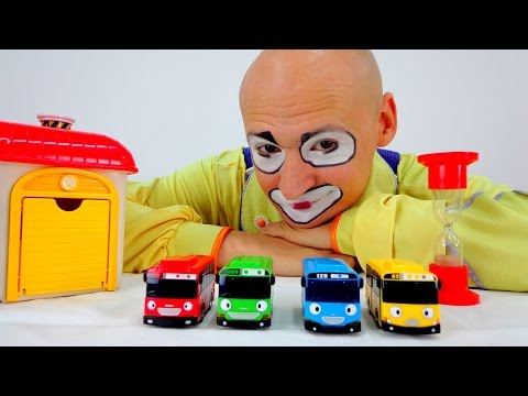 Funny Clown Videos 4 cars Where is a yellow bus