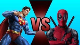 SUPERMAN VS DEADPOOL! (WWE 2K17 Cartoon Battle #2)
