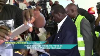 Raila Odinga cast his vote