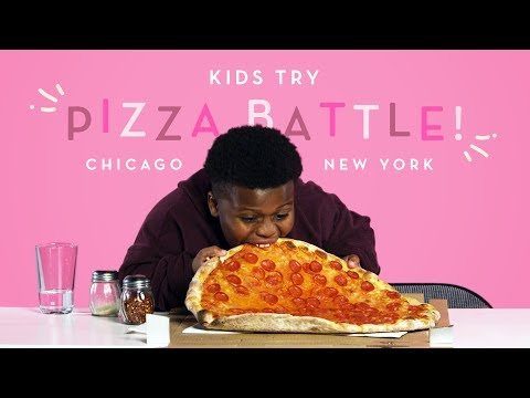 Kids Try Pizza Battle New York Thin Crust vs. Chicago Deep Dish Kids Try HiHo Kids