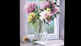 Acrylic Flowers in a Vase   Paint with Kevin ®