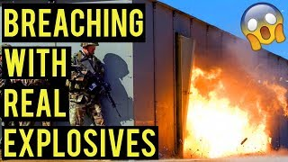 Breaching with Real Explosives | American Milsim Operation: Copperhead 3 (KWC Uzi)