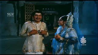 Rajkumar Amd Jayapradha Scenes | Kavirathna Kalidaasa Kannada Movie | Scene 09