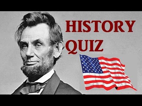 watch American History QUIZ - Very Hard Test!